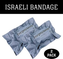 "2 PACK  Israeli 4"" / 6 Emergency Compression Bandage Battle Dressing for First Aid Medical Trauma Survive Bandage"