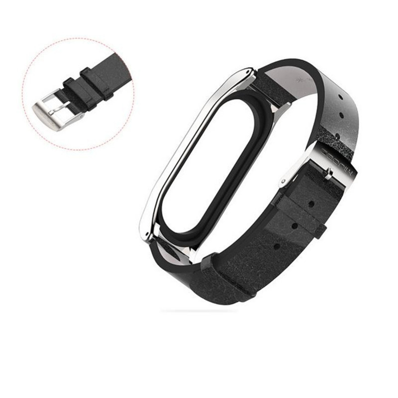 watch strap for Xiaomi Mi Band 3 4 Sport Strap PU microfiber leather watch Bracelet wristband 4 3 wristband 1sh in Smart Accessories from Consumer Electronics
