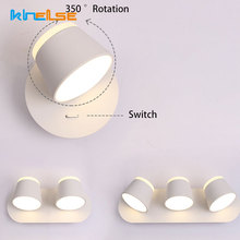 Modern Indoor Adjust Wall Lamp Metal Rotate Lights Dimmable Touch Switch Bedroom Bathroom Mirror Reading Lamp Fixtures Luminaire