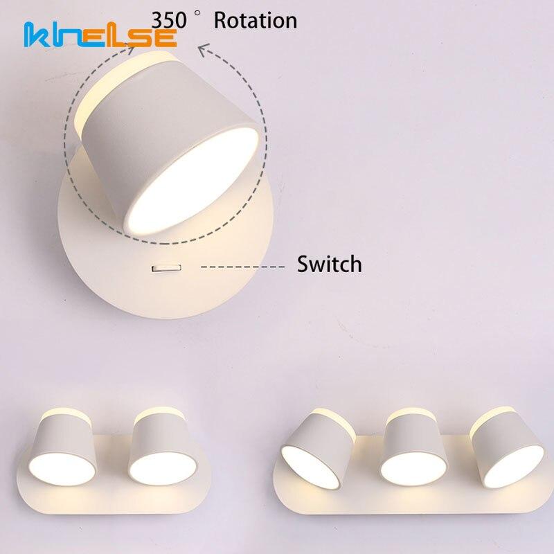 modern interior ajustar lampada de parede luzes de metal girar interruptor de toque regulavel quarto espelho
