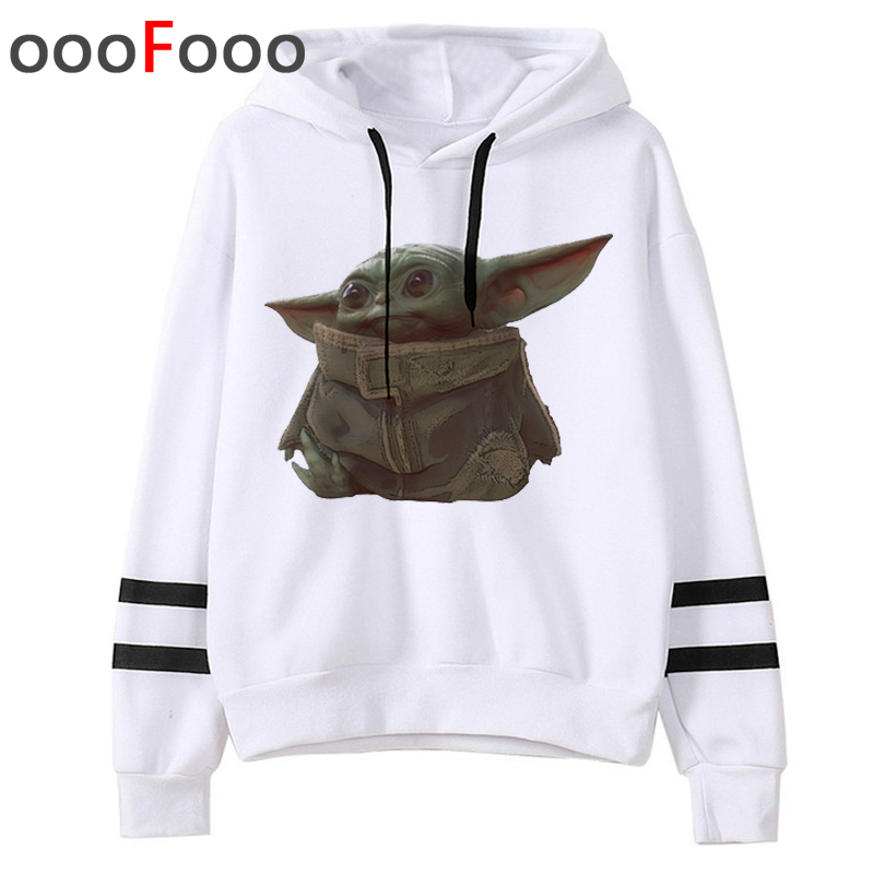 Star Wars Kawaii Baby Yoda Harajuku Hoodies Women Ullzang Cute The Mandalorian Sweatshirt 90s Graphic Cartoon Hoody Female