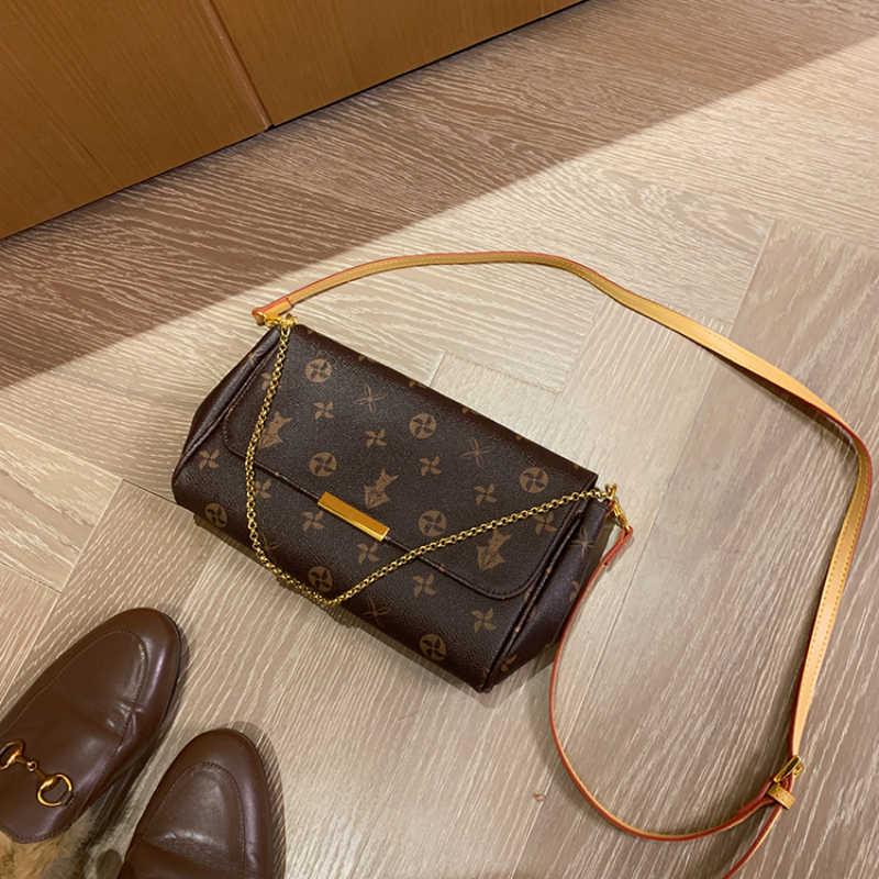 Torebki ze skóry naturalnej dla kobiet wzór kwiatowy torby listonoszki wysokiej jakości klasyczne torby Crossbody louis brand