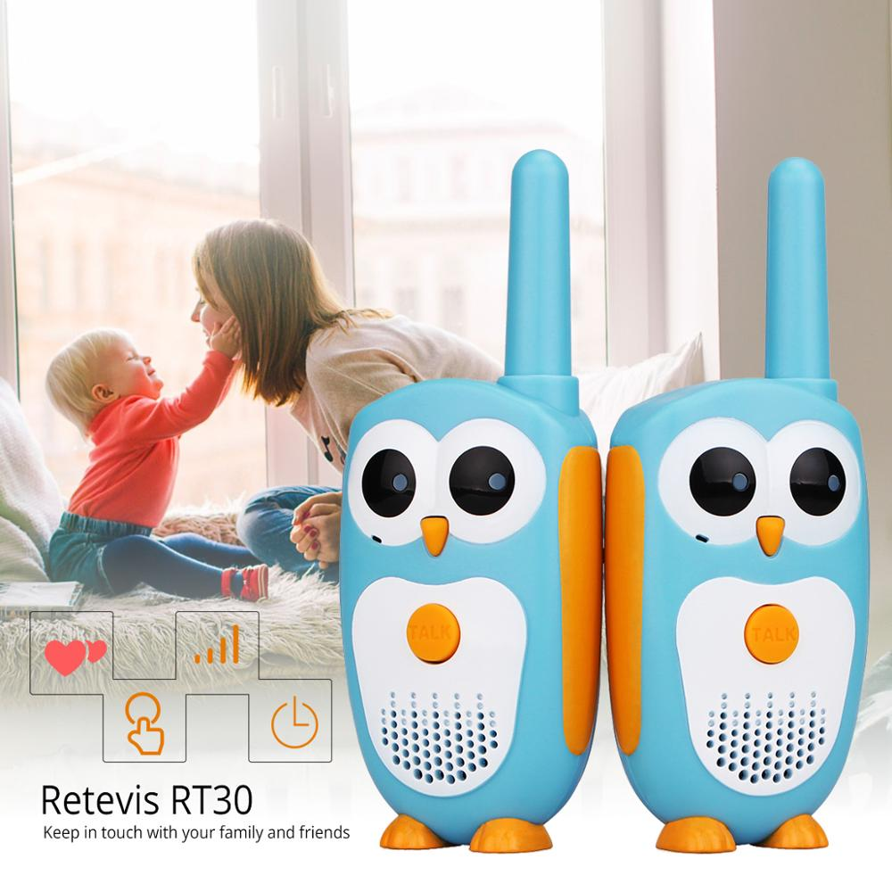 2pcs Retevis RT30 Walkie Talkie Kids 2pcs Cartoon Owl Design Two Way Radio Portable  0.5W 1Channel FRS/PMR PMR446 Walkie-talkies