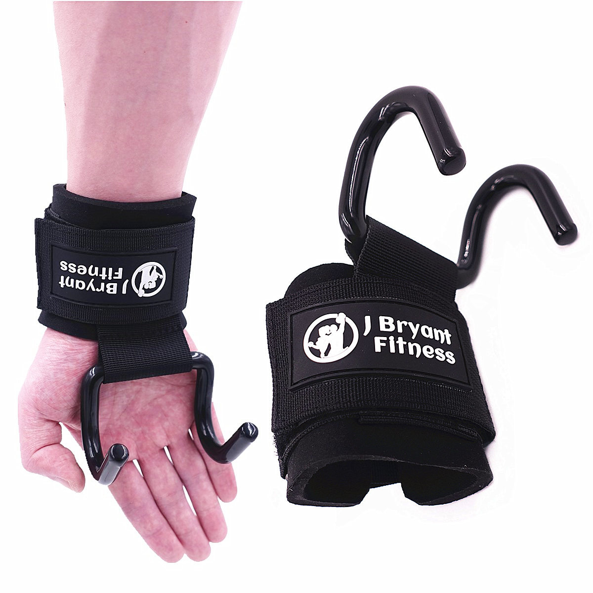 1 Pair Steel Weightlifting Hook Adjustable Fitness Wrist Support Straps Hook Gym For Arm Strength Training