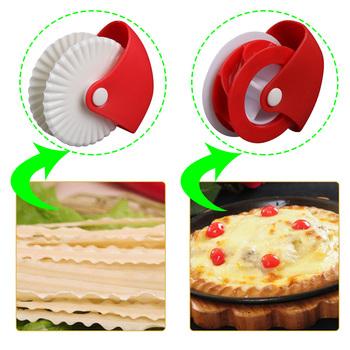 Ciasto kółko do wykrawania spód kruchego ciasta dekorator Pizza makaron zapiekanka krawędzie dekoracja wypieki cukiernicze radełko akcesoria kuchenne tanie i dobre opinie CN (pochodzenie) Siekacze do ciasta Ekologiczne Na stanie Pastry Cutter Wheel Z tworzywa sztucznego Narzędzia do pieczenia i cukiernicze