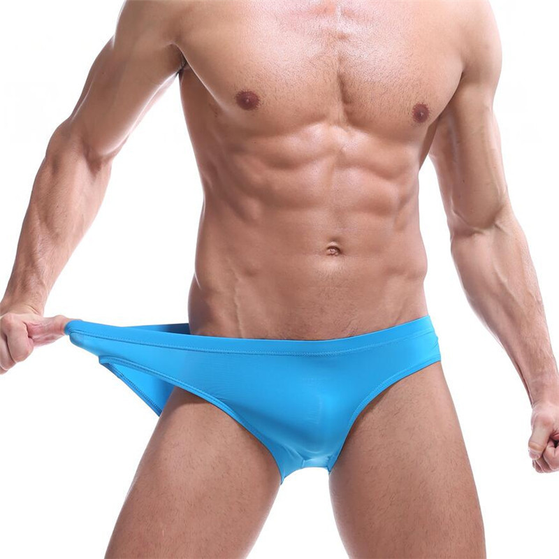 Best Selling Men S Underwear Sexy Briefs Ice Silk Man Sexy Appeal Comfortable Underwear Good Man Briefs