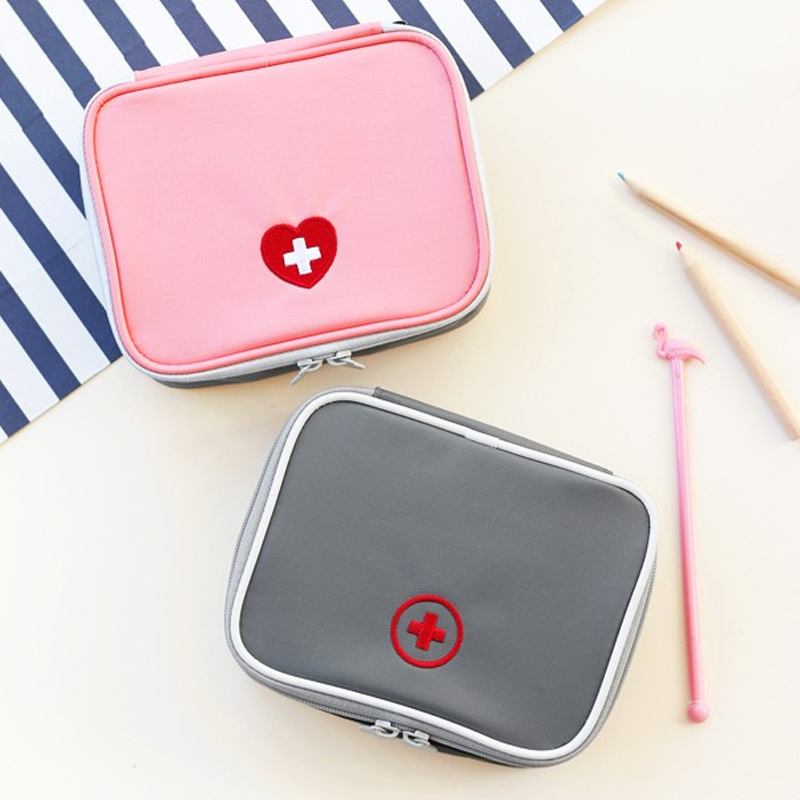 Empty Large First Aid Kit Bag Emergency Medical Box Portable Travel Outdoor Camping Survival Medical Bag Home/Car 13*10*4cm