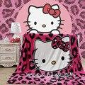 Модное покрывало с леопардовым принтом «Hello Kitty»  «мстители»  «Человек-паук»  Коралловое Флисовое одеяло  детское одеяло с рисунком  150*200 см