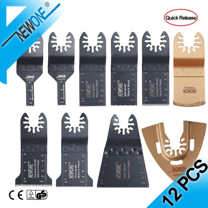 12 Pcs Multitool Saw Blade Oscillating Blade Multi Tool Circular Bi-Metal Saw Blades For Renovator Metal/Wood Cutting Kit