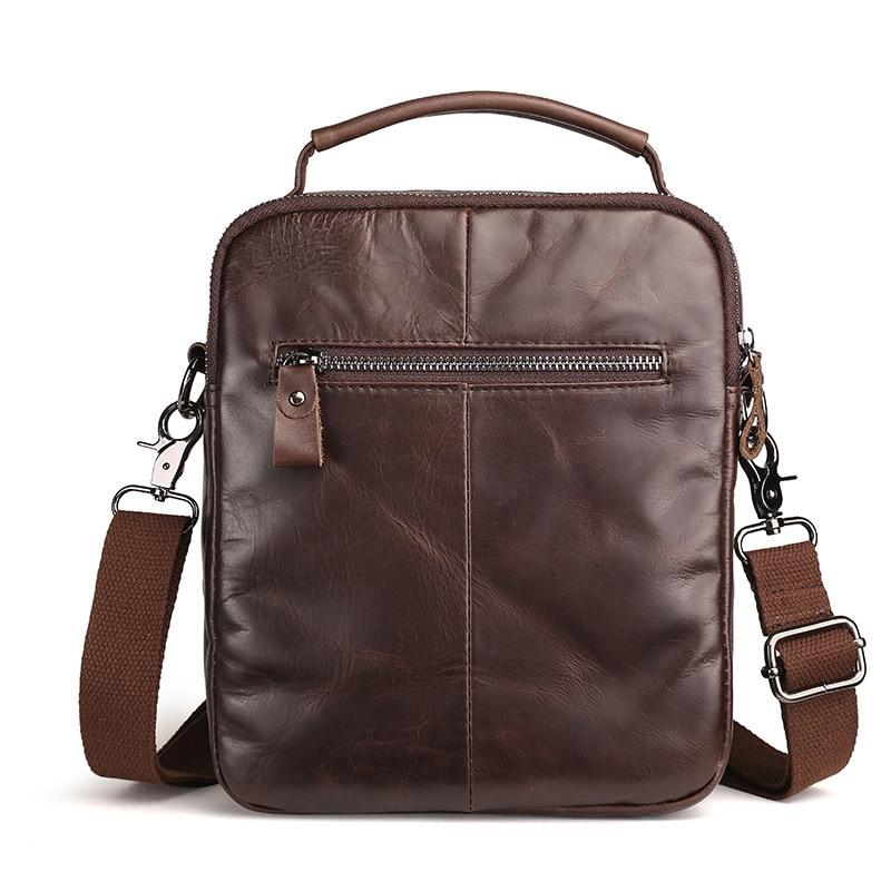 Leather men's bags oil wax retro men shoulder inclined shoulder bag handbag brown head layer cowhide business