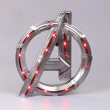 Marver Avengers 4 Logo podświetlana oprawa LED figurka zabawka urodziny prezenty tanie i dobre opinie Disney lalki 12 + y CN (pochodzenie) Wersja zremasterowana Produkty na stanie Unisex Avengers LOGO Wyroby gotowe Gotowy żołnierzyk
