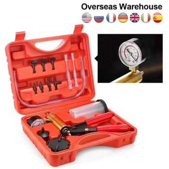 Mr Cartool Manual Vacuum Bleeding Brake Fluid Bleeder Tools Vacuum Pistol Pump Tester Kit Aluminum Pump Pressure Vacuum Gauge