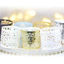 10 unids/lote DIY oro plata caja de regalo pequeña Eid Mubarak decoración Decoración de Ramadán Kareem decoración Suppiles decoración de la fiesta
