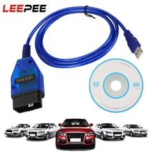 USB Chẩn Đoán Cáp Máy Quét Cho VW Audi Ghế Xe Volkswagen Skoda OBD2 CH340 Chip VAG COM 409.1 Dụng Cụ Quét Giao Diện Vag Com 409Com