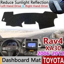 Para a Toyota Rav4 XA30 2006 ~ 2012 RAV 4 30 Anti-Slip Mat Pad Cover Dashboard Pára Dashmat Tapete acessórios do carro 2007 2008 2010