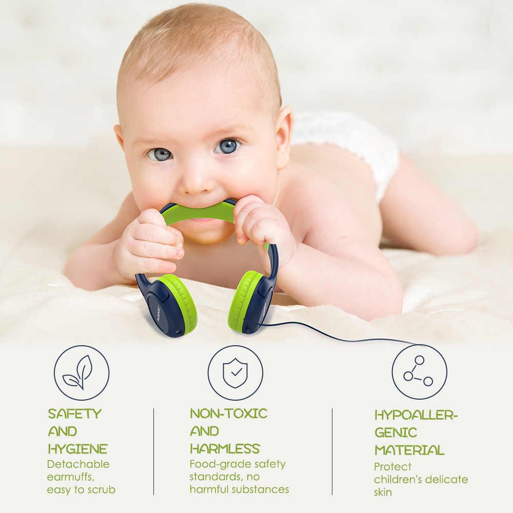 Ausdom K1 เด็กหูฟัง 85dB เด็กปลอดภัย Hearing Soft Earmuffs หูฟังของขวัญเด็กผู้หญิงเด็กแบบมีสายชุดหูฟัง