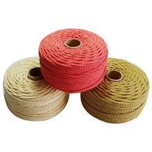 Corde 100% coton plus épaisse 60 m/rouleau, cordon en macramé coloré pour fête, accessoire de décoration de mariage, bricolage