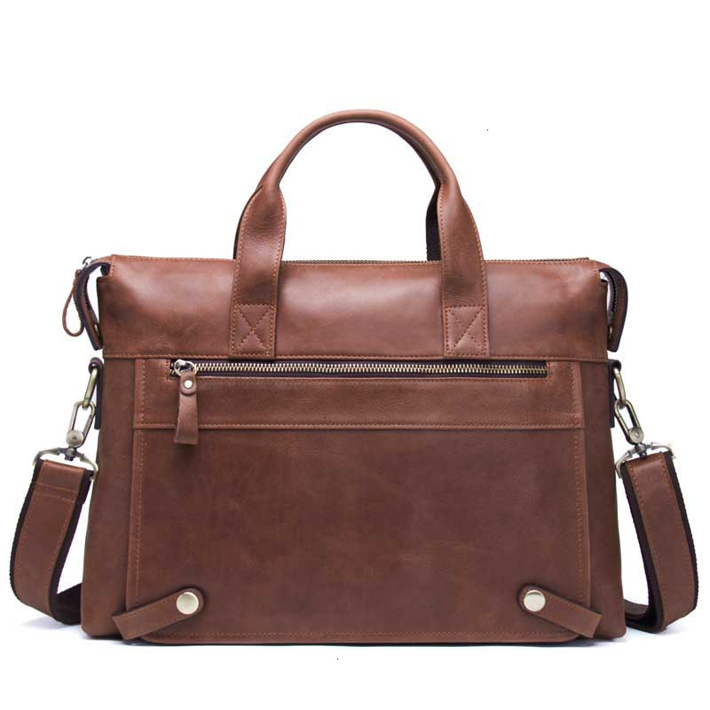 2019 Leather Laptop Messenger Bags Man Business Affairs Briefcase Cowhide Single Shoulder Satchel Portable Computer Male Package