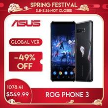 ASUS ROG Phone 3 глобальная версия игровой телефон Snapdragon865plus 8/12RAM 128/512ROM 6000 мА/ч, 144 Гц 2SIM карты 5G ROG3 смартфон