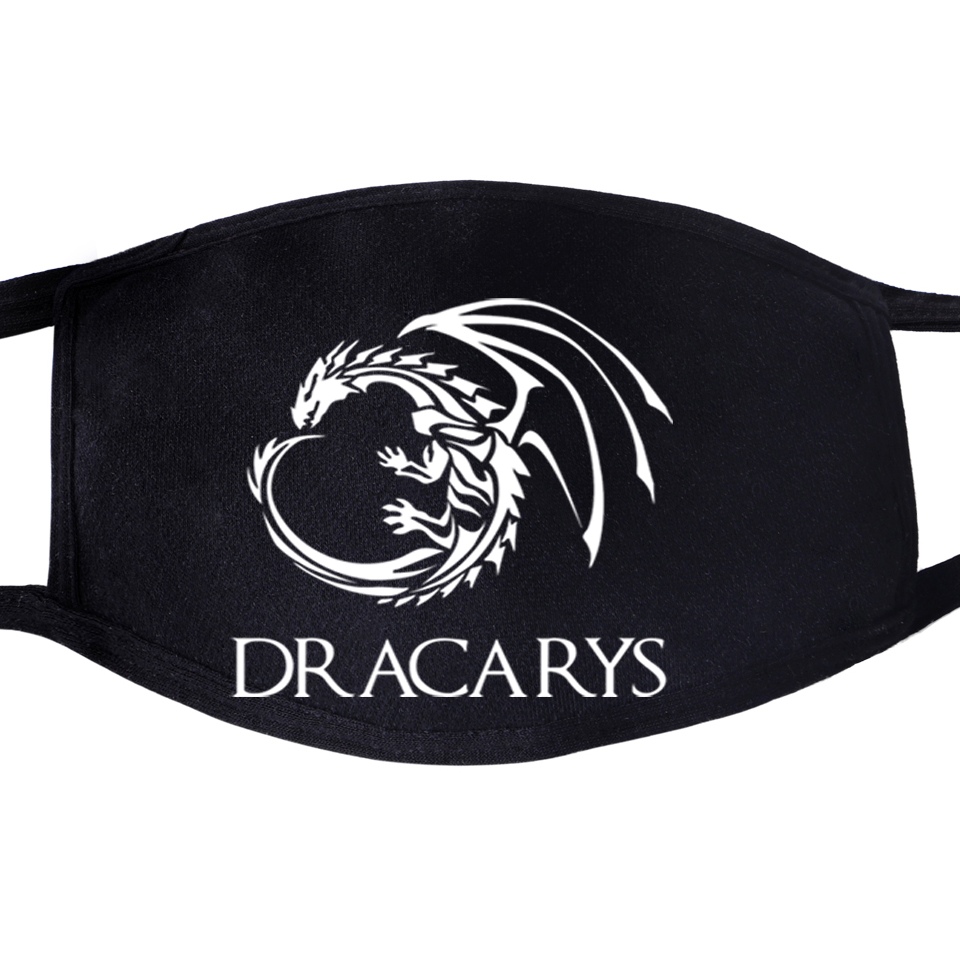 Mouth Black Half Anti Dust Mask Game Of Thrones Not Today Arya Stark Winter Is Comming Daenerys Targaryen Wolf Dragon Mask