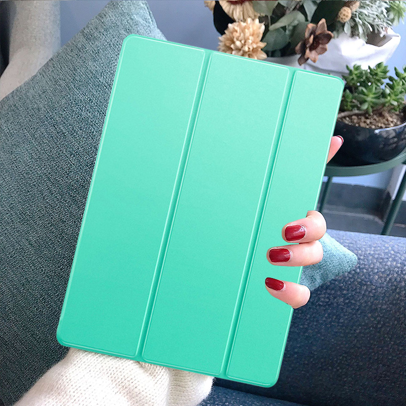 Mint Green Green Funda iPad 7th Generation Case Tablet Pouch PU Leather Tri fold ebook Case For Apple iPad