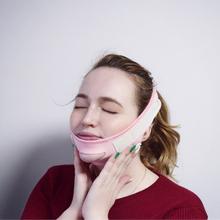 V-line Face Neck podnieś lifting twarzy bandaż bandaż wyszczuplający pas policzek podbródek twarzy cienki pasek do twarzy kształtowanie lifting twarzy narzędzia tanie tanio BOLUOYIN Brak elektryczne cloth Maszyna wykonana Face Shaping Bandage Face slimming Face lift Bandage fabric Face Lift Tools