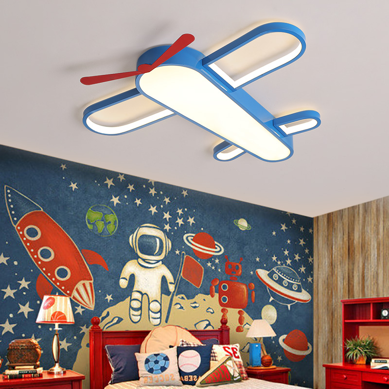 Airplane Light For Kids Room Bedroom Ceiling Light Baby Boy Children Room Ceiling Light Lighting Fixture Child Room Ceiling Lamp image