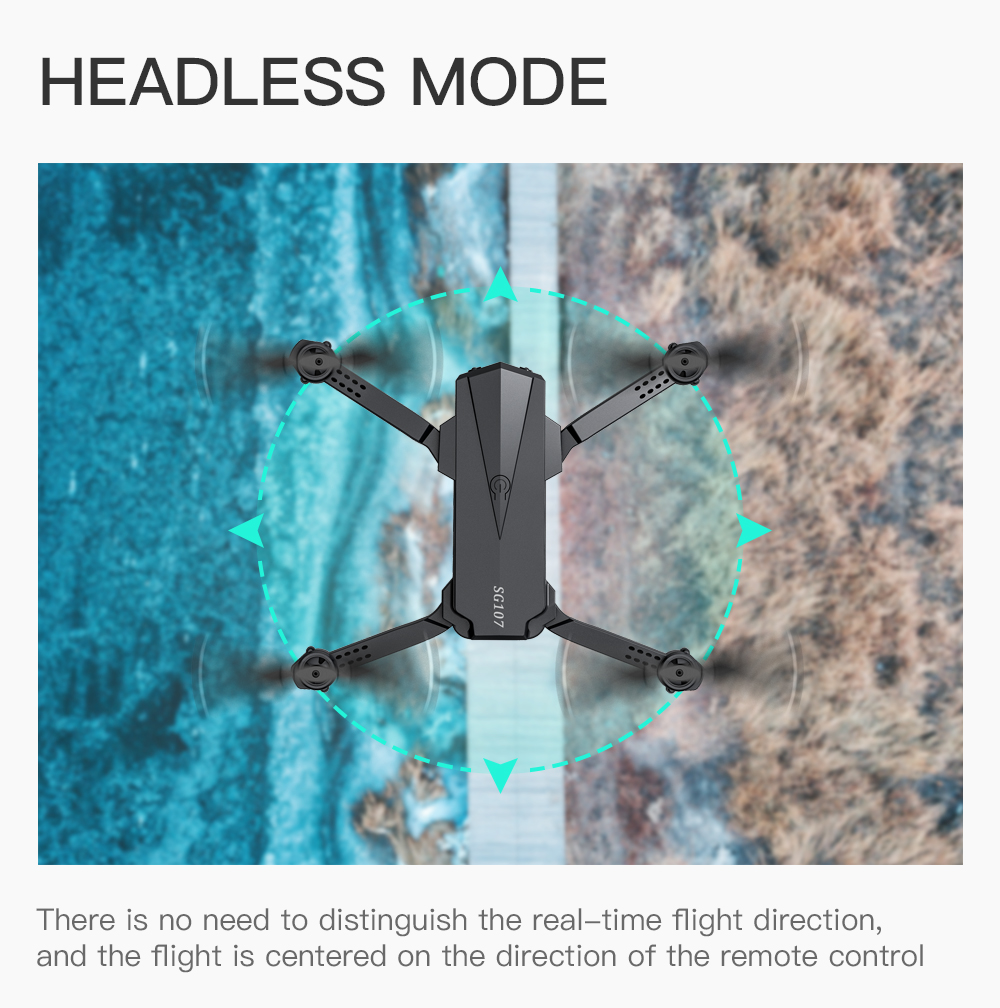 Best Drone 4K with HD Camera WIFI 1080P Camera Follow Me Quadcopter FPV Smart Drone Long Battery Life Altitude Hold RC 4