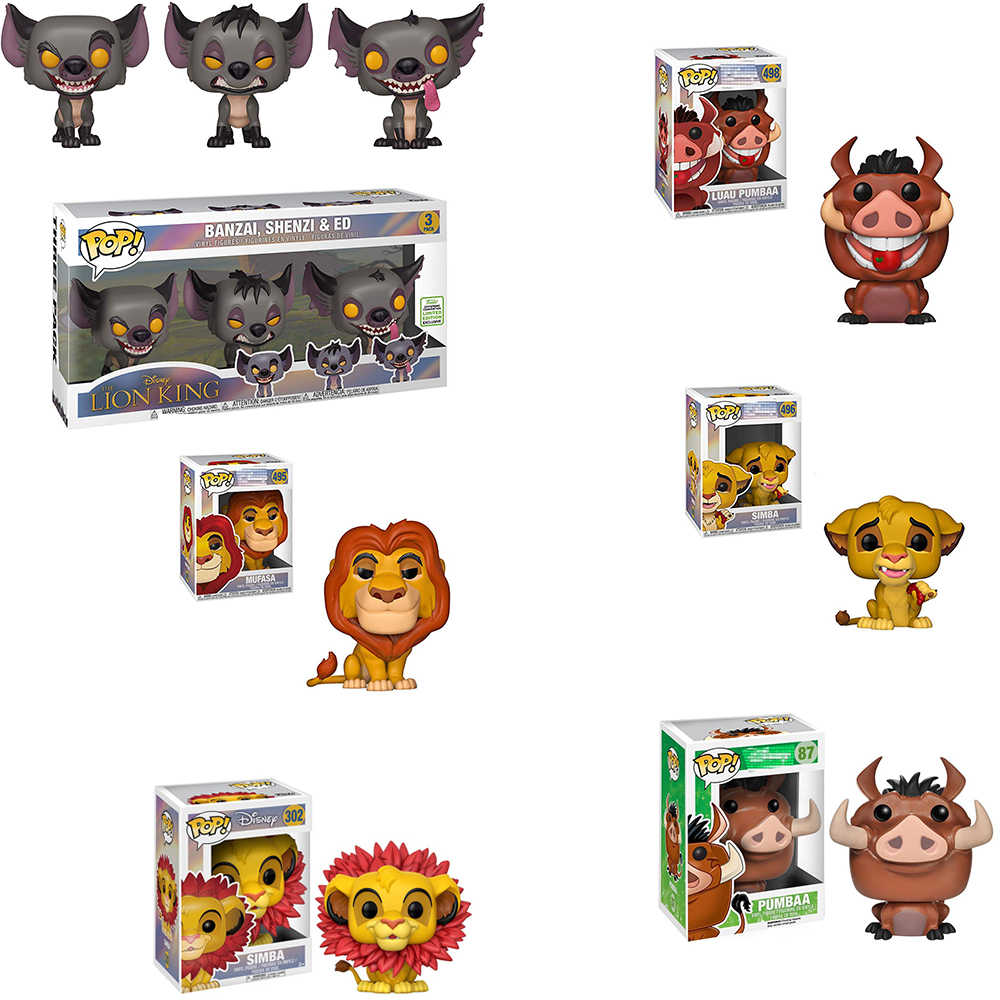 Funko Pop Banzai, Shenzi E Ed Il Re Leone Simba Luau Pumbaa Mufasa Anime Movie Modello di Bambini Regali