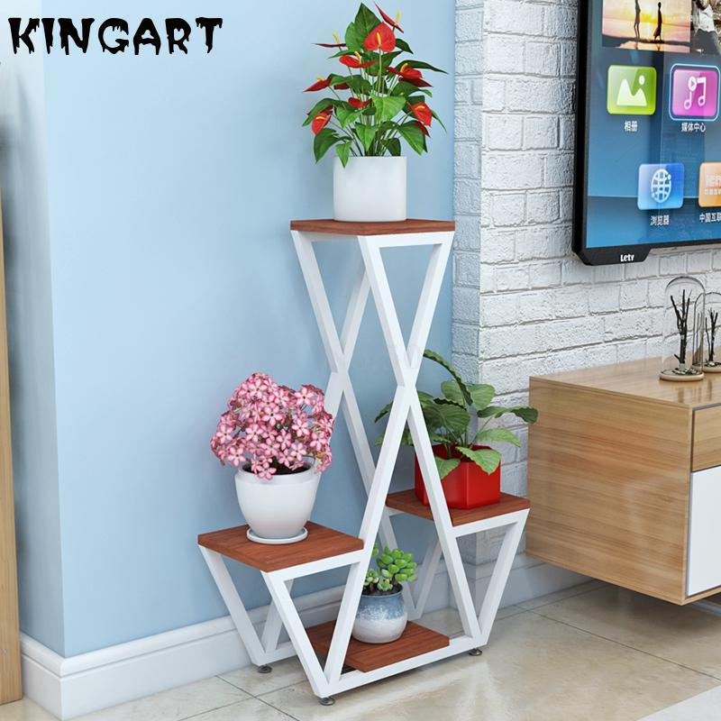 Flower Racks  Home Decor Plant Rack Stand Living Room Flower Vase Garden Flowerpot House Flower Shelf Indoor Floor Vase