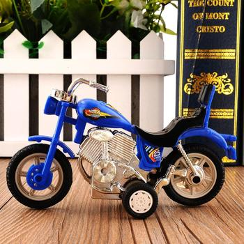 Children Plastic Car Decor Off-road Vehicle 1:18 Home Collection Gift Office Model Toy Diecast Motorcycle Simulation Portable image