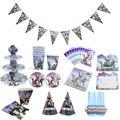 Тема Fortnite, украшение на день рождения, подставка для торта, поднос для бумажных стаканчиков, набор посуды, аксессуары для вечерние Ринок, дет...