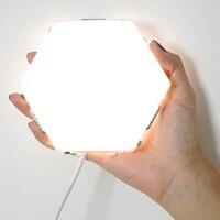 2019 nova diy quantum lâmpada sensível ao toque da noite lâmpada modular hexágono luminaria criativo decoração toque lamparas luz de parede|Luzes noturnas| |  -