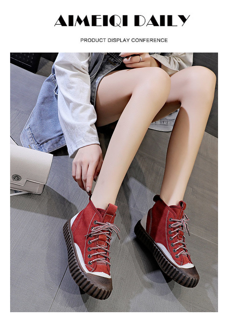 Women's Flat Retro  Lightweight Sneaker Canvas Shoes
