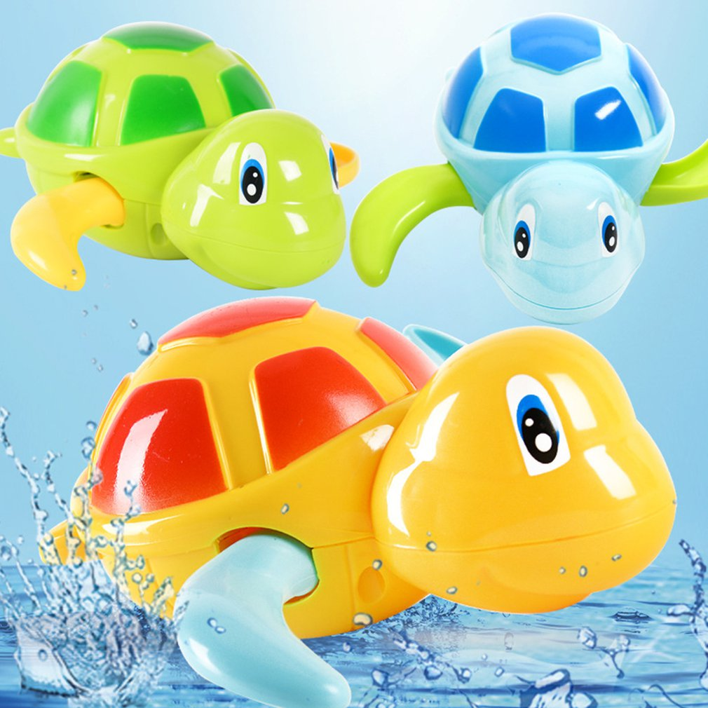 Children'S Funny Turtle Toy Summer Water Toys Wind-Up Spring Swimming Turtles Baby Shower Toys Water Turtles Playful