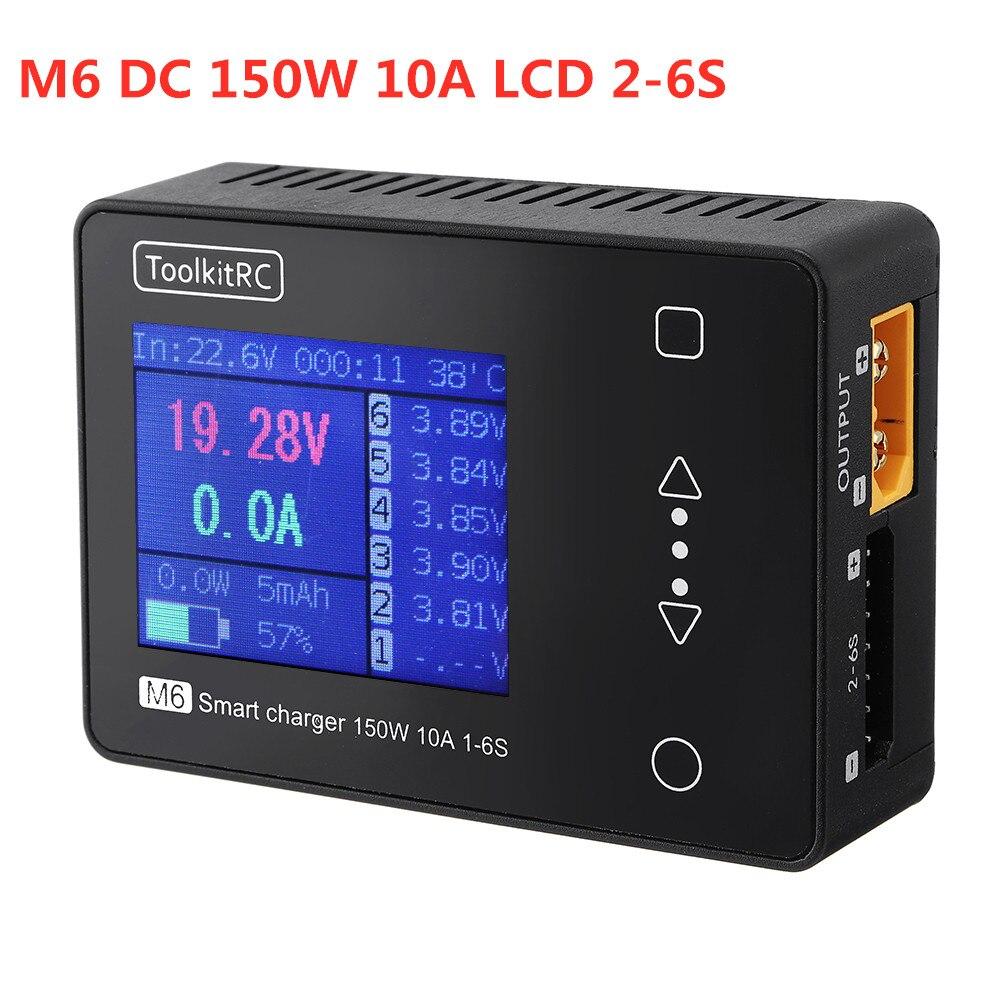 Смарт зарядное устройство toolkirc M6, 150 Вт, 10A, ЖК дисплей, 2 6S, Lipo, зарядное устройство для FPV гоночного дрона, радиоуправляемые детали, Accs W/тестер Детали и аксессуары      АлиЭкспресс