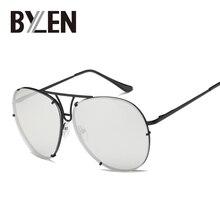 BYLEN Pilot Sunglasses Women Men Brand Designer Candy Colors