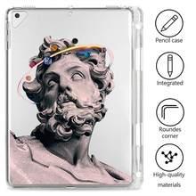 Забавная статуя для Ipad Pro 12 9 2020, прозрачный мягкий чехол для планшета с пеналом, чехол для Ipad 7 поколения Air 3, чехлы Mini 1 2 3