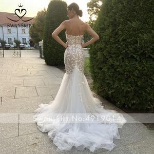Image 2 - SWANSKIRT Fashion Appliques Wedding Dress Sweetheart Mermaid Illusion Court Train Princess Vestido de novia SA13 Bridal Gown
