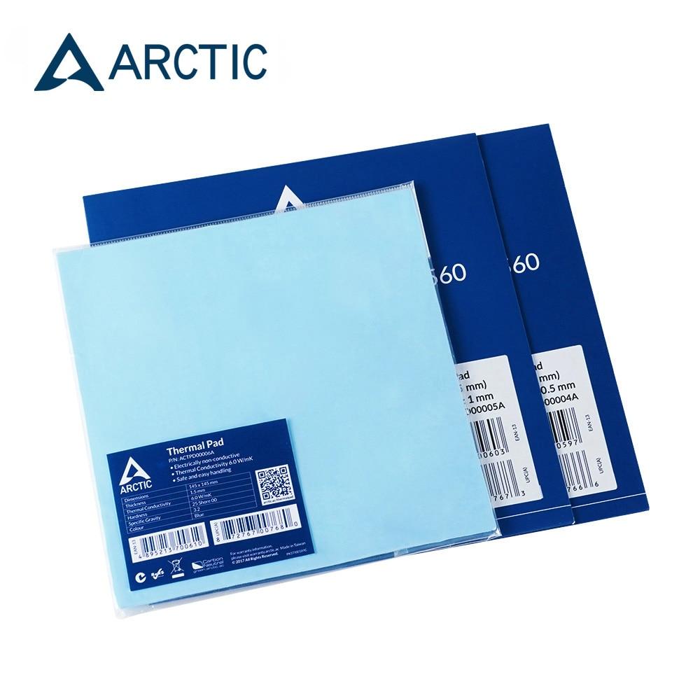 ARCTIC Thermal Pad 6.0 W/mK Conductivity 0.5mm 1.0mm 1.5mm Thermal Mat 145*145MM Thermally Conductive adhesive 1