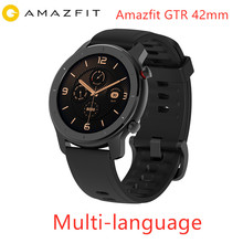 Küresel sürüm Amazfit GTR 42mm akıllı saat Huami 5ATM su geçirmez Smartwatch 24 gün pil GPS müzik kontrol cihazı Android IOS için