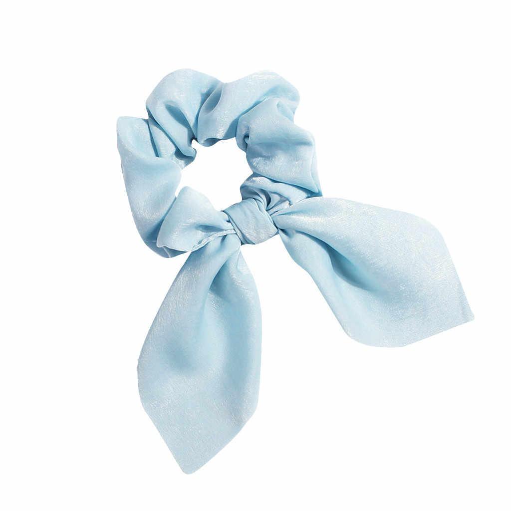 1 Pcs Fashion Solid Warna Rambut Pemegang Kain Hairband Dicetak Bow Simpul Rambut Wanita Cincin Hoop Kepala Perempuan Bando Grosir # P3