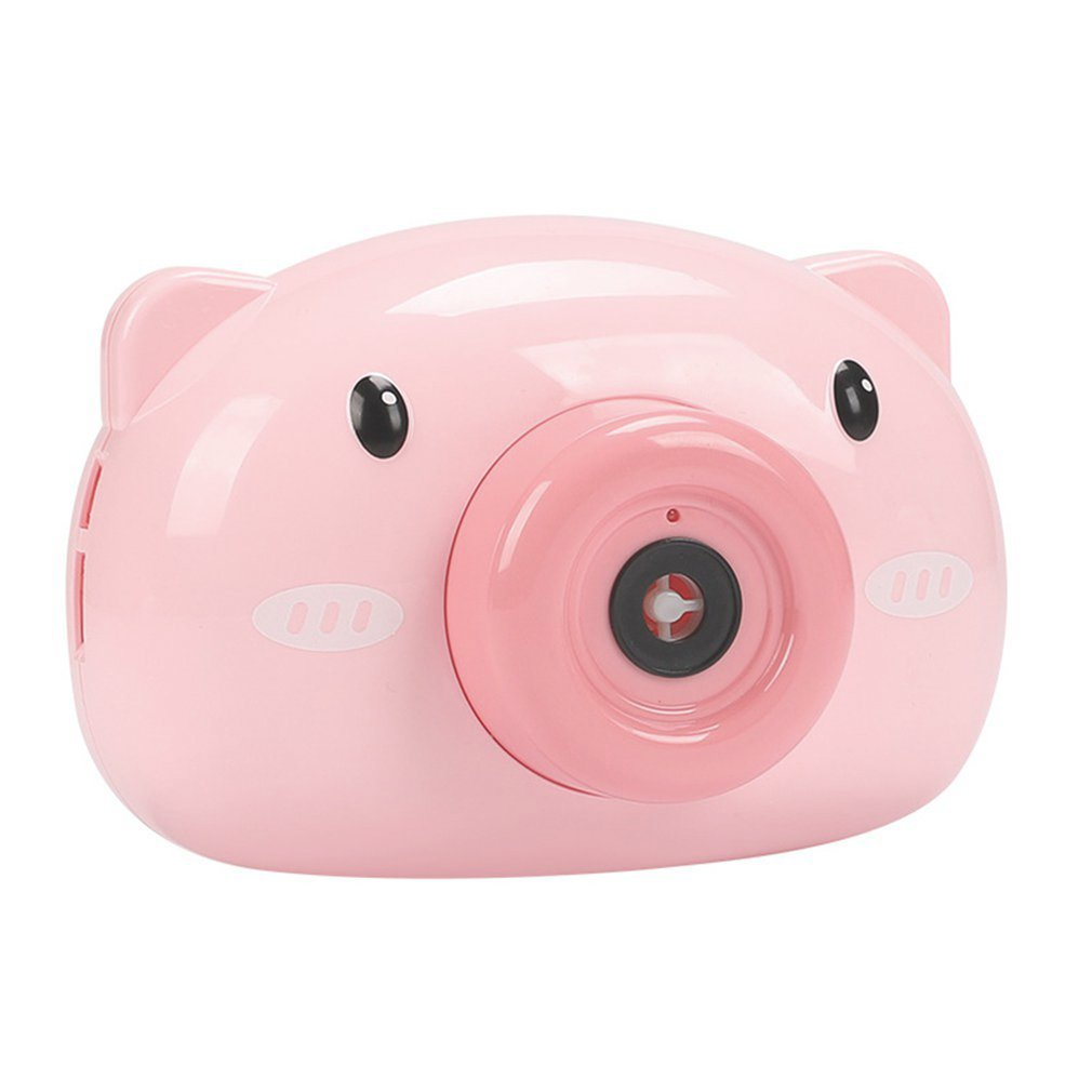 Hot Cute Cartoon Pig Camera Kids Baby Bubble Machine Outdoor Automatic Bubble Maker Gift For Girlfriend Bath Toy For Children