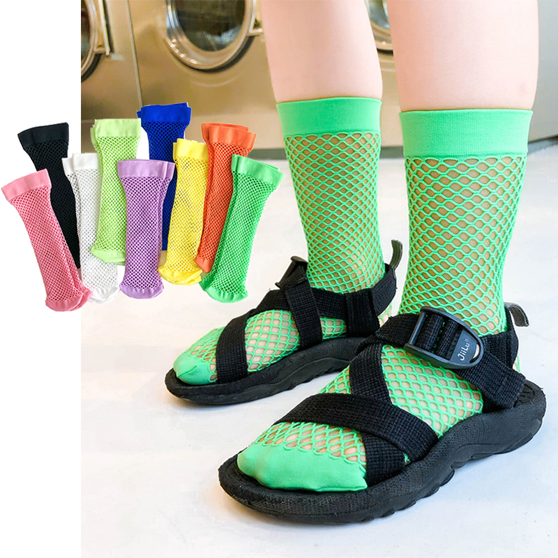 Kids Knee High Socks Spring Summer Thin Toddler Children's Long Sock Girls Boy Mesh White Fishnet Tube Socks Baby Stockings Nets