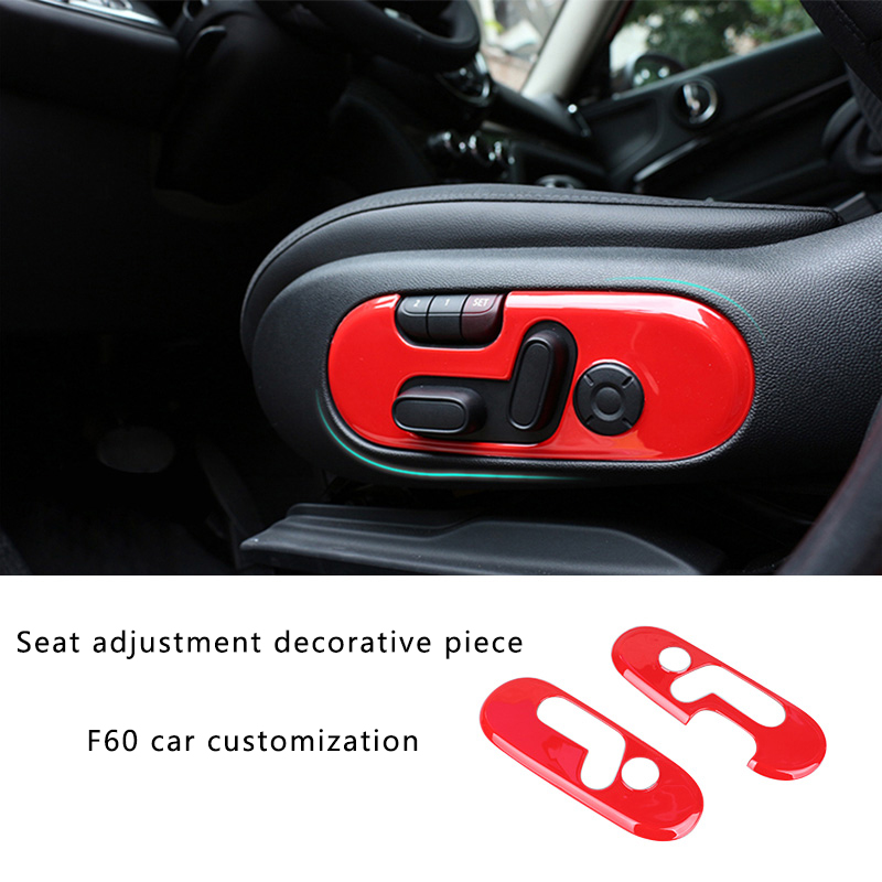 Car Seat adjustment button decoration Sticker For BMW MINI ONE COOPER S JCW F60 COUNTRYMAN Car accessories interior styling 2pcs