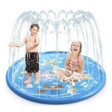Летняя ПВХ детская игра водяной фонтан игровой коврик пляжный