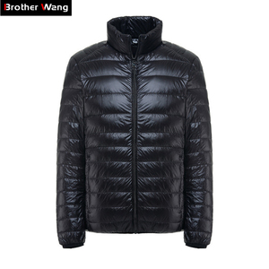 Image 1 - Brother Wang Brand Winter New MensDown Jacket Casual White Duck Down Light Down Men  Warm Coat male men clothes 2020