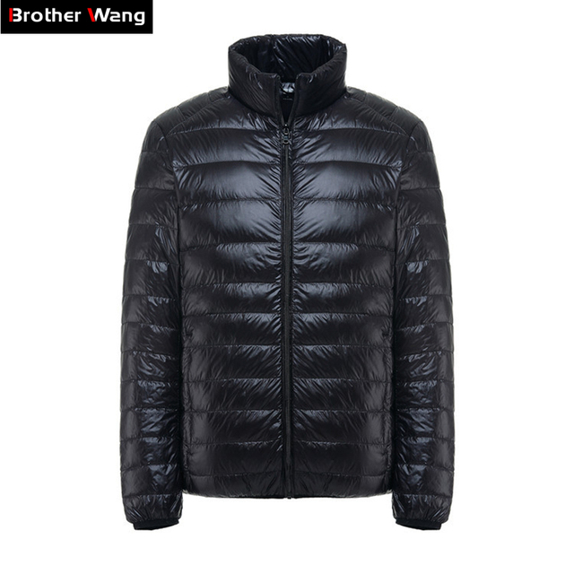 Brother Wang Brand Winter New MensDown Jacket Casual White Duck Down Light Down Men  Warm Coat male men clothes 2020