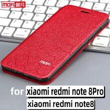 Flip מקרה עבור xiaomi redmi note8 פרו מקרה redmi הערה 8 כיסוי stand עור mofi redmi הערה 8pro ספר בחזרה fundas יוקרה coque pu