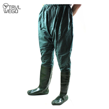 TRVLWEGO Fishing Clothes Hunting Wading Pants Waterproof Wading Suit Breathable Chest Waders Overalls Fly Fishing Trousers high jump camouflage fishing waders 0 7mm pvc breathable waterproof chest fishing wader unisex dichotomanthes end fishing waders